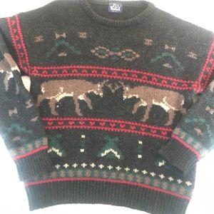 Woolrich Wool Sweater Pullover XL Deer